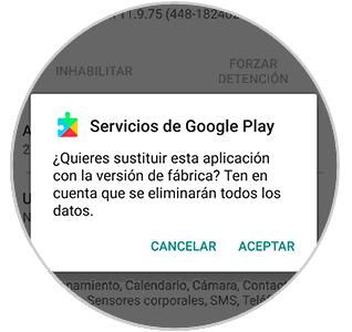 servicios de google play continua fallando